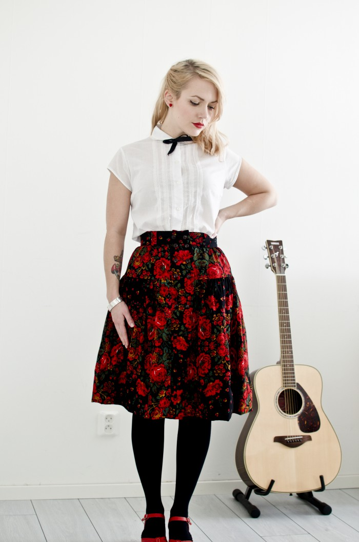 retroskirtblouse